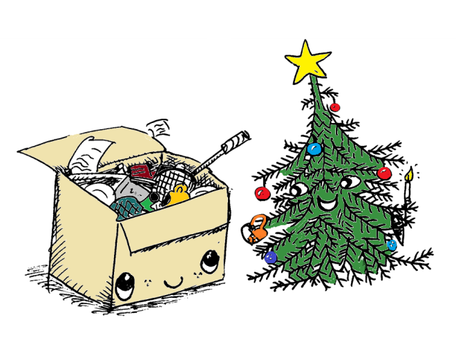 Flytte og Jul og December farver