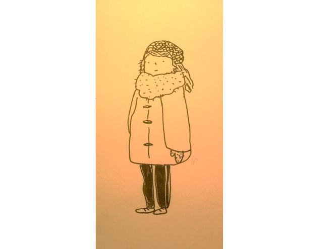 Winter casual lady warm colours