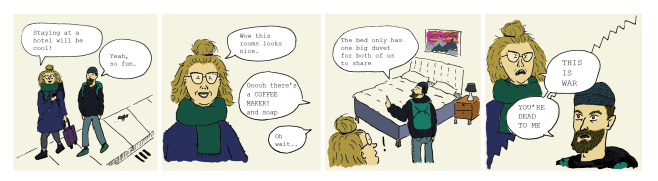 double duvet troubles comic