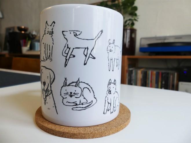 mug doodle pets cats dogs cute
